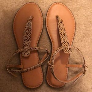 J. Crew leopard sandals